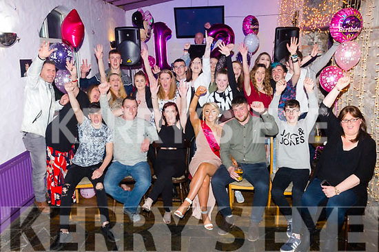 Carly Holden, Balloonagh, Tralee, celebrating her 21st birthday with family and friends at the Greyhound bar on Saturday