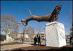 In attesa di Giorgio Napolitano per inaugurare la nuova scultura di Giuseppe Penone INLIMINE posata all'ingresso della Galleria d'Arte Moderna