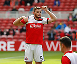 Jack O'Connell of Sheffield Utd warms up during the Championship match at the Riverside Stadium, Middlesbrough. Picture date: August 12th 2017. Picture credit should read: Simon Bellis/Sportimage