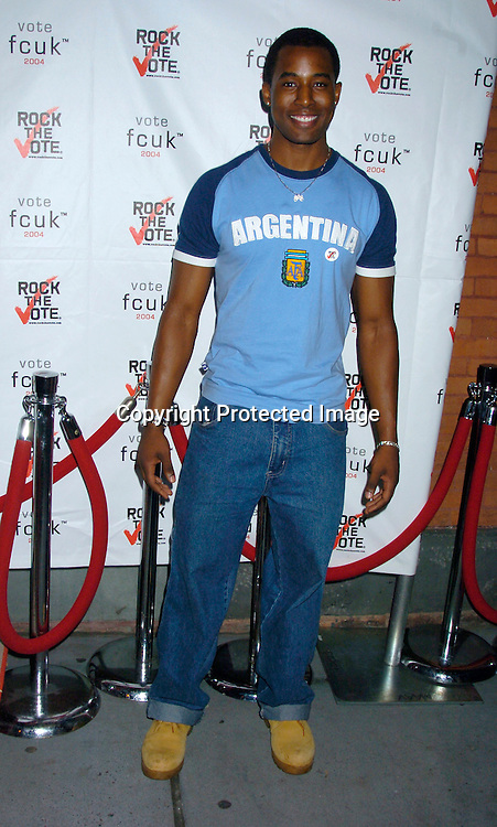 """Gavin Houston ..at The French Connection  and Rock The Vote for a """"Fcuk You, I'm Voting Party on August 31, 2004 in New York City. ..Photo by Robin Platzer, Twin Images"""