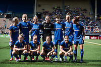 Seattle, WA - Sunday June 12, 2016:  during a regular season National Women's Soccer League (NWSL) match between the Seattle Reign FC and Houston Dash at Memorial Stadium.