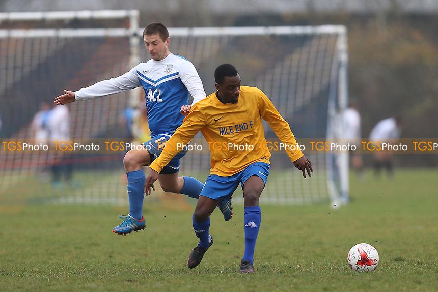 FC Krystal (blue/white) vs Mile End, Hackney & Leyton Sunday League Football at Hackney Marshes on 18th December 2016