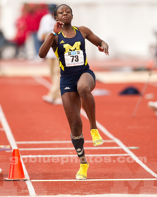The University of Michigan women's track and field team finished day two in fifth place at the Big Ten Outdoor Championships at Jesse Owens Memorial Stadium in Columbus, Ohio, on May 11, 2013.