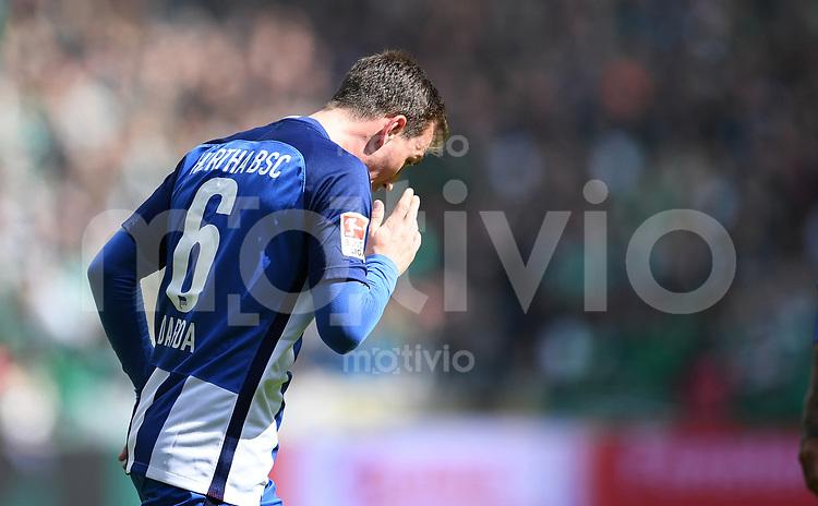 FUSSBALL     1. BUNDESLIGA      31. SPIELTAG    SAISON 2016/2017  SV Werder Bremen - Hertha BSC Berlin                          29.04.2017 Vladimir Darida (Hertha BSC Berlin)