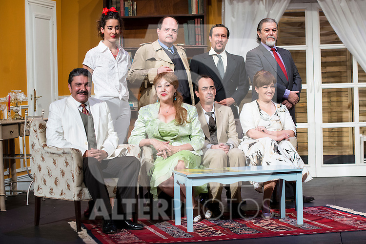 The cast at &quot;Usted puede ser un asesino&quot; Theater play in Mu&ntilde;oz Seca Theater, Madrid, Spain, September 07, 2015. <br /> (ALTERPHOTOS/BorjaB.Hojas)