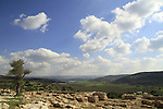 Israel, Shephelah, the southern gate complex of Khirbet Qeiyafa, one of the two gates of the Iron Age settlement from the 11th century BC
