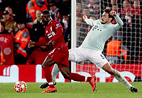 Liverpool's Naby Keita is tackled by Bayern Munich's Mats Hummels<br /> <br /> Photographer Rich Linley/CameraSport<br /> <br /> UEFA Champions League Round of 16 First Leg - Liverpool and Bayern Munich - Tuesday 19th February 2019 - Anfield - Liverpool<br />  <br /> World Copyright © 2018 CameraSport. All rights reserved. 43 Linden Ave. Countesthorpe. Leicester. England. LE8 5PG - Tel: +44 (0) 116 277 4147 - admin@camerasport.com - www.camerasport.com