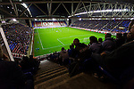 Wigan Athletic 1 Rubin Kazan 1, 24/10/2013. DW Stadium, Europa League Group D. Wigan Athletic embark on their first European campaign having won the FA Cup the previous season. The DW Stadium is temporarily known as The Wigan Athletic Stadium for Europa League fixtures. General view of the game from the South Stand.  Photo by Paul Thompson.