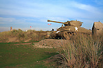 Tank at Utah Beach, Normandy, France.