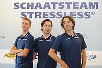 SCHAATSEN: WOLVEGA: 22-09-2014, Team Stressless, Bart Swings (BEL), Karlo Timmerman (NED), Bart Veldkamp (trainer/coach), ©foto Martin de Jong