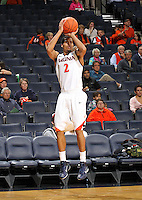 Nov 6, 2010; Charlottesville, VA, USA; Virginia Cavaliers g Mustapha Farrakhan (2) shoots the ball Saturday afternoon in exhibition action at John Paul Jones Arena. The Virginia men's basketball team recorded an 82-50 victory over Roanoke College.