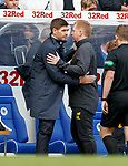 01.09.2019 Rangers v Celtic: Steven Gerrard and Neil Lennon at full time