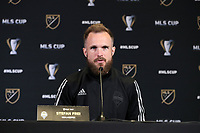 SEATTLE, WA - NOVEMBER 7: Stefan Frei #24 of the Seattle Sounders FC at Grand Hyatt Seattle on November 7, 2019 in Seattle, Washington.