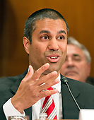 Ajit Pai, Chairman, Federal Communications Commission (FCC) appears before the United States Senate Committee on Appropriations Subcommittee on Financial Services and General Government to examine proposed budget estimates and justification for the fiscal year 2018 Federal Communications Commission budget request on Capitol Hill in Washington, DC on Tuesday, June 20, 2017.<br /> Credit: Ron Sachs / CNP