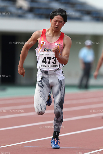 Gurimu Narita,<br /> MAY 1, 2016 - Athletics :<br /> Japan Para Athletics Championships<br /> Men's 4x100m Relay T42/T44/T47 Final<br /> at Coca Cola West Sports Park, Tottori, Japan.<br /> (Photo by Shingo Ito/AFLO SPORT)