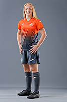 Pictured: Sophie Hancocks. 09 May 2018<br /> Re: Swansea City AFC studio photo-shoot at the Barn, in the Youth Academy facility in Swansea, Wales, UK.