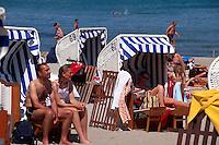 Badestrand von Timmendorfer Strand, Schleswig-Holstein, Deutschland