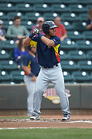 Abraham Toro (31) of the Buies Creek Astros at bat against the Winston-Salem Dash at BB&T Ballpark on May 5, 2018 in Winston-Salem, North Carolina. The Dash defeated the Astros 6-2. (Brian Westerholt/Four Seam Images)
