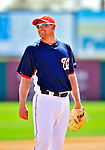 8 March 2010: Washington Nationals' third baseman Ryan Zimmerman smiles during a Spring Training game against the Florida Marlins at Space Coast Stadium in Viera, Florida. The Marlins defeated the Nationals 12-2 in Grapefruit League action. Mandatory Credit: Ed Wolfstein Photo