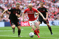 Jonny Williams of Charlton takes on the Sunderland defence during Charlton Athletic vs Sunderland AFC, Sky Bet EFL League 1 Play-Off Final Football at Wembley Stadium on 26th May 2019