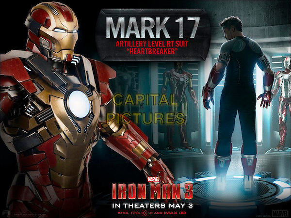 POSTER ART.in Iron Man 3 (2013) .*Filmstill - Editorial Use Only*.CAP/NFS.Supplied by Capital Pictures.