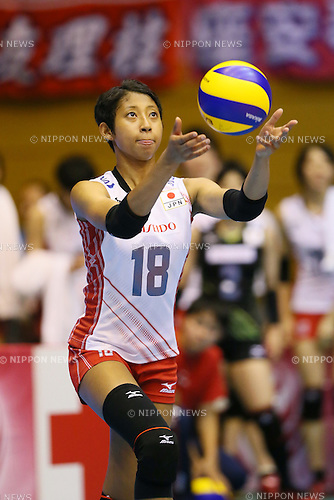 Airi Miyabe (JPN), <br /> JULY 11, 2015 - Volleyball : <br /> FIVB Volleyball World Grand Prix Saitama 2015 <br /> preliminary round match <br /> between Japan 3-0 Dominican Republic <br /> at Saitama city memorial gymnasium <br /> in Saitama, Japan. <br /> (Photo by YUTAKA/AFLO SPORT)