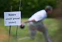 12/07/14<br /> <br /> In true British spirit, a game of skittles is played at Cubley Fete, despite an unexpectedly lumpy lawn.<br /> <br /> <br /> All Rights Reserved: F Stop Press Ltd. +44(0)1335 300098   www.fstoppress.com.