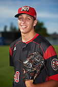 Batavia Muckdogs pitcher Parker Bugg (40) poses for a photo before a game against the West Virginia Black Bears on June 30, 2016 at Dwyer Stadium in Batavia, New York.  Batavia defeated West Virginia 4-3.  (Mike Janes/Four Seam Images)