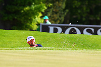 Andy Sullivan chips out of the bunker on the #5 green during the BMW PGA Golf Championship at Wentworth Golf Course, Wentworth Drive, Virginia Water, England on 26 May 2017. Photo by Steve McCarthy/PRiME Media Images.