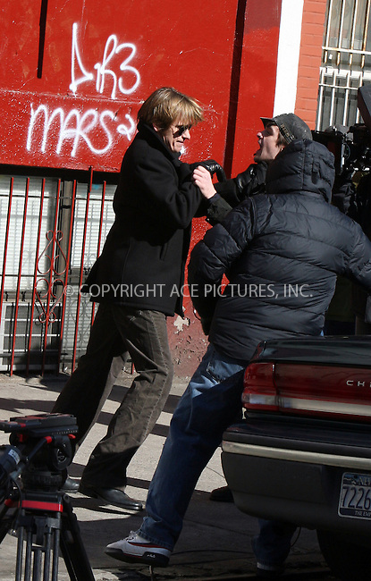 WWW.ACEPIXS.COM................February 23 2007, New York City.......**EXCLUSIVE TO ACE PICTURES - ALL ROUNDER**....Actor Dennis Leary performs a fight scene during filming of his television series 'Rescue Me' on the Lower East Side of Manhattan.......Please byline: PHILIP VAUGHAN/ACEPIXS.COM....For information please contact Philip Vaughan:..tel: 646 769 0430..e-mail: info@acepixs.com..website: www.acepixs.com