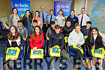Students attending the Transition Year Student Orientation Programme at Tralee Garda Station on Friday. Front row l-r, Alice Moore (Pres Castleisland), Catherine Broderick (Tarbert Comprehensive School), Tadgh O&rsquo;Connor (Mean Scoil Castlegregory), Ally Parker (Mounthawk) and Tia Kelly (Pres Tralee).<br /> 2nd row l-r, Shane Dean (Mean Scoil Castlegregory), Cullen Lynch (Tarbert Comprehensive School), Aidan Keane (St Brendans Killarney), Darragh Cremins (St Brendans Killarney), Darragh O&rsquo;Sullivan (Mounthawk). Standing l to r: Gda Trish Fitzpatrick, Louise Joy (Causeway Comprehensive), Clodagh Donnelly (Gaelcolaiste Chiarrai), Sgt Tim O&rsquo;Keeffe, Gda Eileen O&rsquo;Sullivan, Lisa Flynn (Pres Castleisland), Gda Cathy Murphy and Supt Dan Keane.