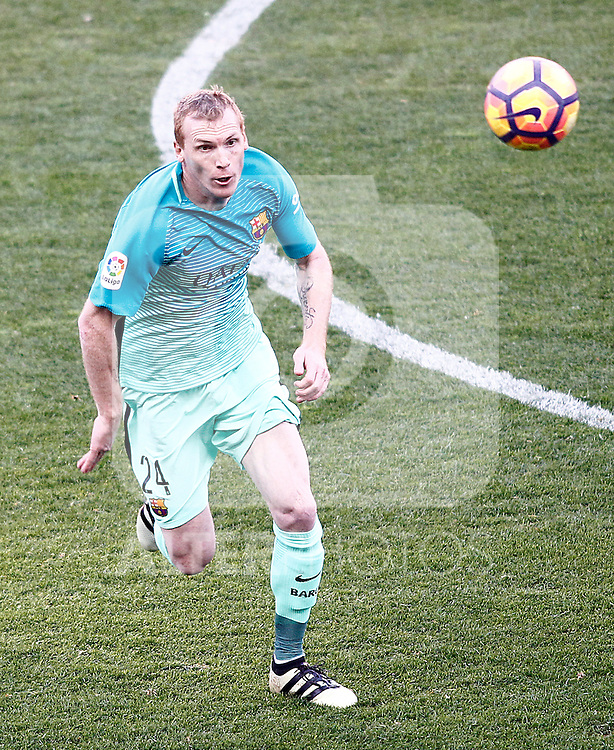 FC Barcelona's Jeremy Mathieu during La Liga match. February 26,2017. (ALTERPHOTOS/Acero)