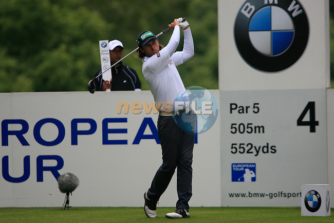 Martin Wiegele (AUT) tees off on the 4th tee during Day 3 of the BMW PGA Championship Championship at, Wentworth Club, Surrey, England, 28th May 2011. (Photo Eoin Clarke/Golffile 2011)