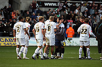 Pictured: (L-R) Ashley Williams, Garry Monk, Darren and Angel Rangel <br /> Re: Coca Cola Championship, Swansea City FC v Cardiff City at the Liberty Stadium. Swansea, south Wales, Sunday 30 November 2008.<br /> Picture by D Legakis Photography / Athena Picture Agency, Swansea 07815441513