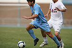 06 September 2009: UNC's Enzo Martinez (16). The University of North Carolina Tar Heels defeated the Evansville University Purple Aces 4-0 at Fetzer Field in Chapel Hill, North Carolina in an NCAA Division I Men's college soccer game.