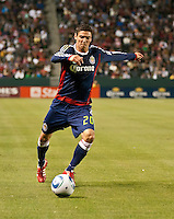 CARSON, CA – APRIL 30, 2011: Chivas USA defender Zarek Valentin (20) during the match between Chivas USA and New England Revolution at the Home Depot Center, April 30, 2011 in Carson, California. Final score Chivas USA 3, New England Revolution 0.