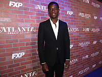 """LOS ANGELES - FEBRUARY 19: Damson Idris arrives at the red carpet event for FX's """"Atlanta Robbin' Season"""" at the Ace Theatre on February 19, 2018 in Los Angeles, California.(Photo by Frank Micelotta/FX/PictureGroup)"""