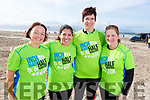 Ready for the Inch Half Marathon on Inch Beach on Sunday morning. L-r, Tina Johnson (Carragh Lake), Verionca McCarthy (Cromane), Johanna King (Cromane) and Theresa O'Brien Casey (Annascaul).