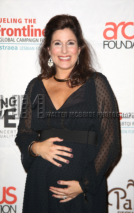 Stephanie J. Block backstage at 'Uprising Of Love: A Benefit Concert For Global Equality' at the Gershwin Theatre on September 15, 2014 in New York City.
