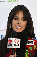 PHILADELPHIA, PA - DECEMBER 5: Camila Cabello at Q102's iHeartRadio Jingle Ball at Wells Fargo Center in Philadelphia, Pennsylvania on December 5, 2018. Credit: John Palmer/MediaPunch