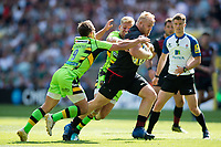Vincent Koch of Saracens takes on the Northampton Saints defence. Aviva Premiership match, between Saracens and Northampton Saints on September 2, 2017 at Twickenham Stadium in London, England. Photo by: Patrick Khachfe / JMP