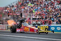 Aug 31, 2019; Clermont, IN, USA; NHRA top fuel driver Brittany Force during qualifying for the US Nationals at Lucas Oil Raceway. Mandatory Credit: Mark J. Rebilas-USA TODAY Sports