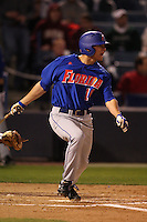 March 2, 2010:  Tyler Thompson of the Florida Gators during a game at Legends Field in Tampa, FL.  Photo By Mike Janes/Four Seam Images