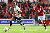 Preston North End's Brad Potts gets away from Nottingham Forest's Alfa Semedo<br /> <br /> Photographer David Shipman/CameraSport<br /> <br /> The EFL Sky Bet Championship - Nottingham Forest v Preston North End - Saturday 31st August 2019 - The City Ground - Nottingham<br /> <br /> World Copyright © 2019 CameraSport. All rights reserved. 43 Linden Ave. Countesthorpe. Leicester. England. LE8 5PG - Tel: +44 (0) 116 277 4147 - admin@camerasport.com - www.camerasport.com
