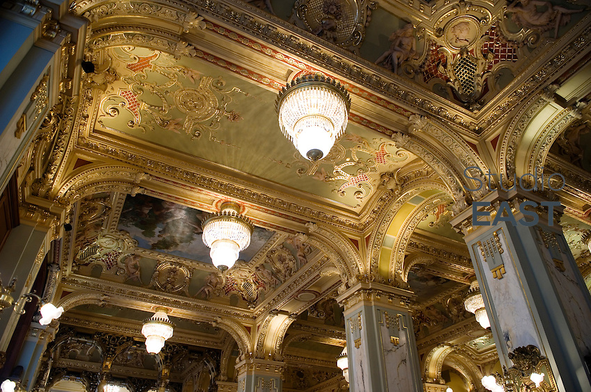 The Baroque ceiling of New York cafe, part of the Boscolo Hotel, in Budapest, Hungary, on November 21, 2011. Photo by Lucas Schifres/Pictobank