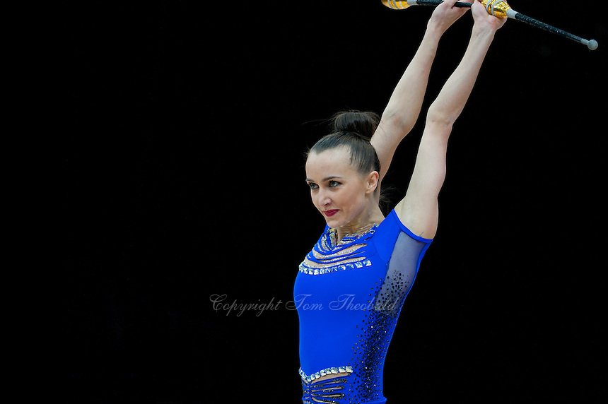 "February 14, 2016 - Tartu, Estonia - ANNA RIZATDINOVA of Ukraine performs in Event Finals at ""Miss Valentine"" 2016 international tournament."