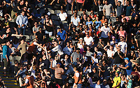 Fans and supporters.<br /> New Zealand Black Caps v Australia.Tri-Series International Twenty20 cricket. Eden Park, Auckland, New Zealand. Friday 16 February 2018. &copy; Copyright Photo: Andrew Cornaga / www.Photosport.nz
