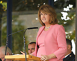 10/09/2015<br /> An Tanaiste Joan Burton TD pictured at the Garda Graduation Ceremony at the Garda College, Templemore, Co. Tipperary.<br /> Pic: Press 22