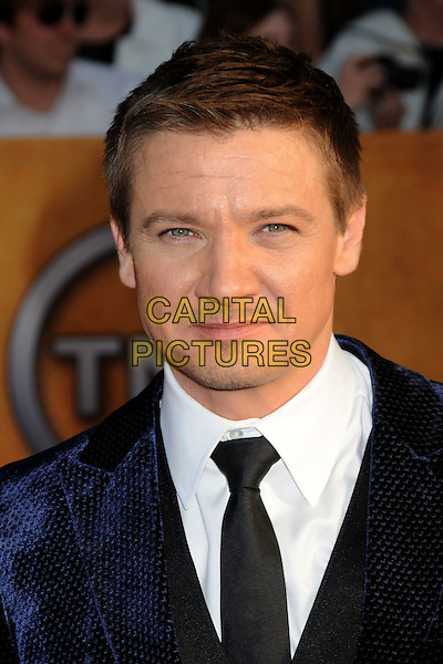 JEREMY RENNER.16th Annual Screen Actors Guild Awards - Arrivals held at The Shrine Auditorium, Los Angeles, California, USA..January 23rd, 2009.SAG SAGs headshot portrait blue velvet suit black tie white .CAP/ADM/BP.©Byron Purvis/Admedia/Capital Pictures