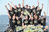 SKUTSJESILEN: SNEEK: Snitser Mar, 02-08-2013, SKS skûtsjesilen, Kampioen de Sneker Pan, ©foto Martin de Jong